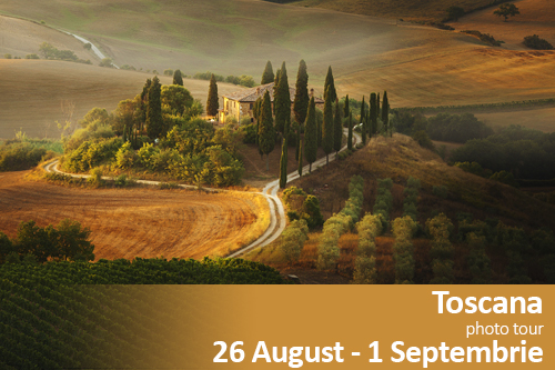 Toscana photographic tour | 26 August – 1 Septembrie