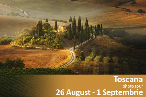 Toscana photographic tour | 26 August – 1 Septembrie 2016