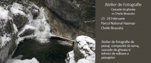 Cascade de gheață in Cheile Bicazului