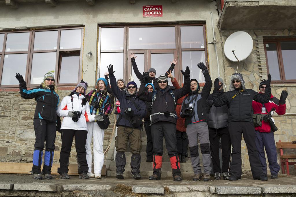 Foto de grup la workshopul de pe Ceahlau