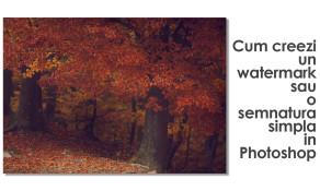Tutorial Photoshop: cum faci o semnatura pentru imaginile de web